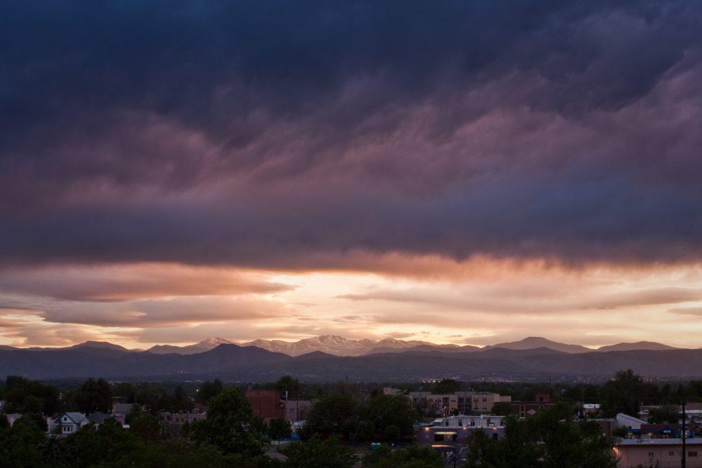 Mount Evans sunset - June 1, 2010