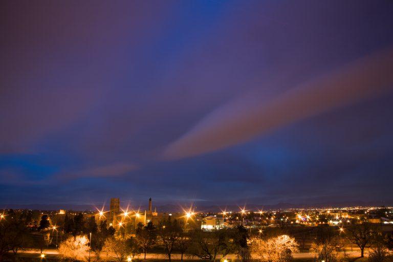 West side sunset. Denver, Colorado - April 6, 2011