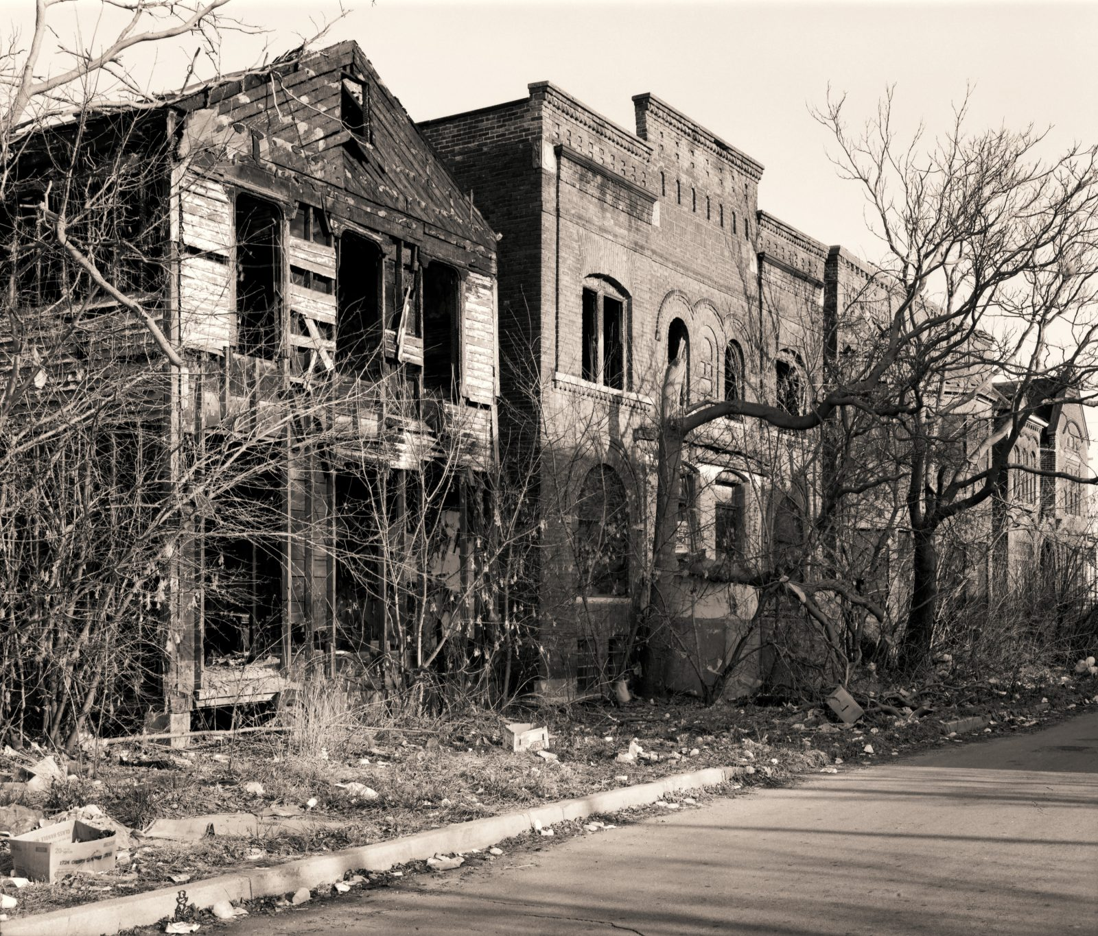 Abandoned houses in Detroit, Michigan.