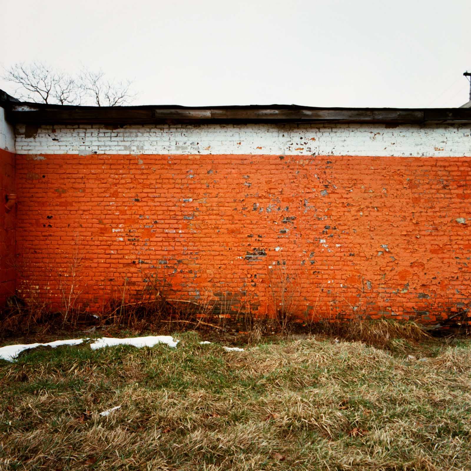 Orange wall. Detroit, Michigan