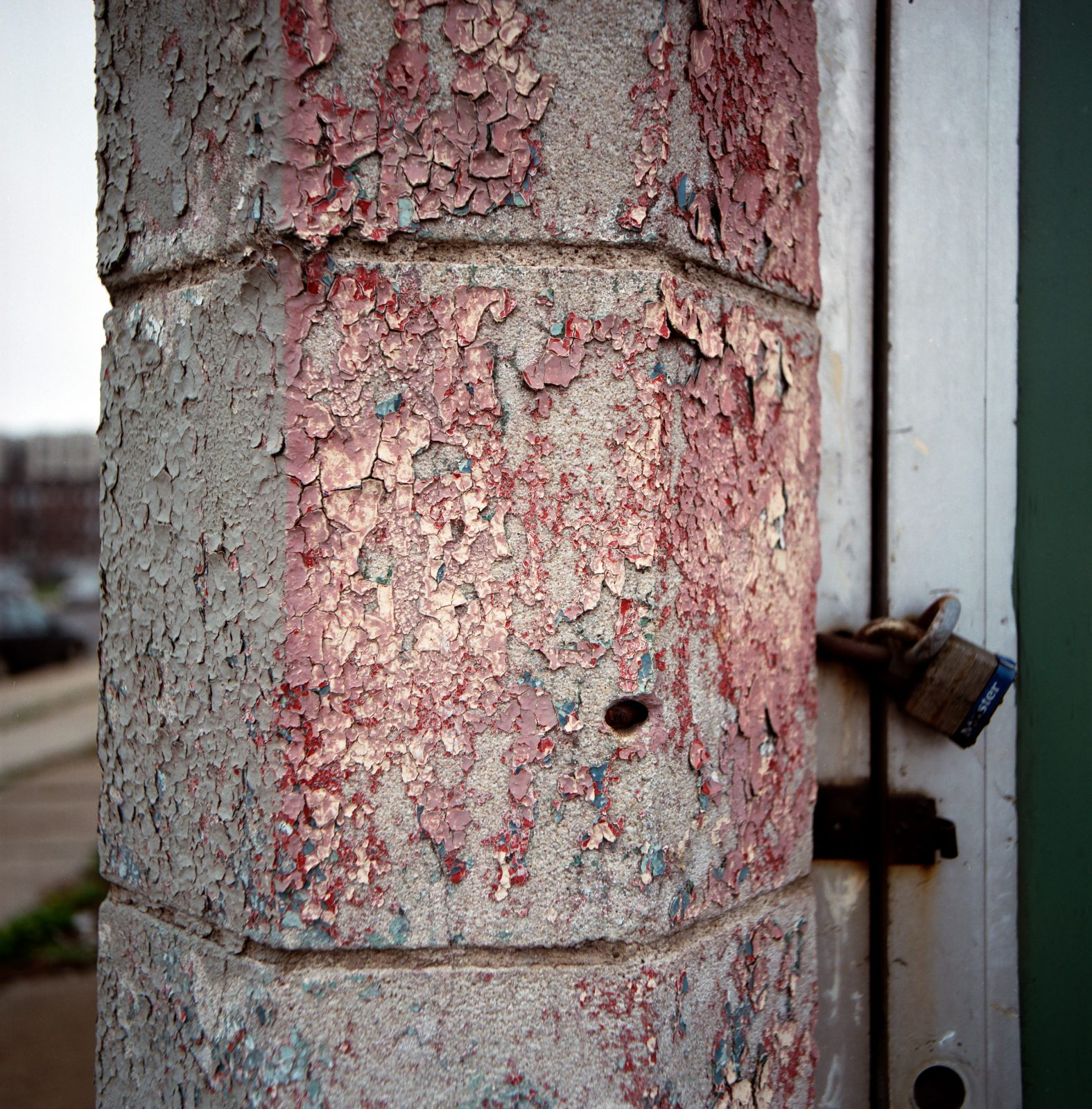 Peeling paint. Detroit, Michigan.