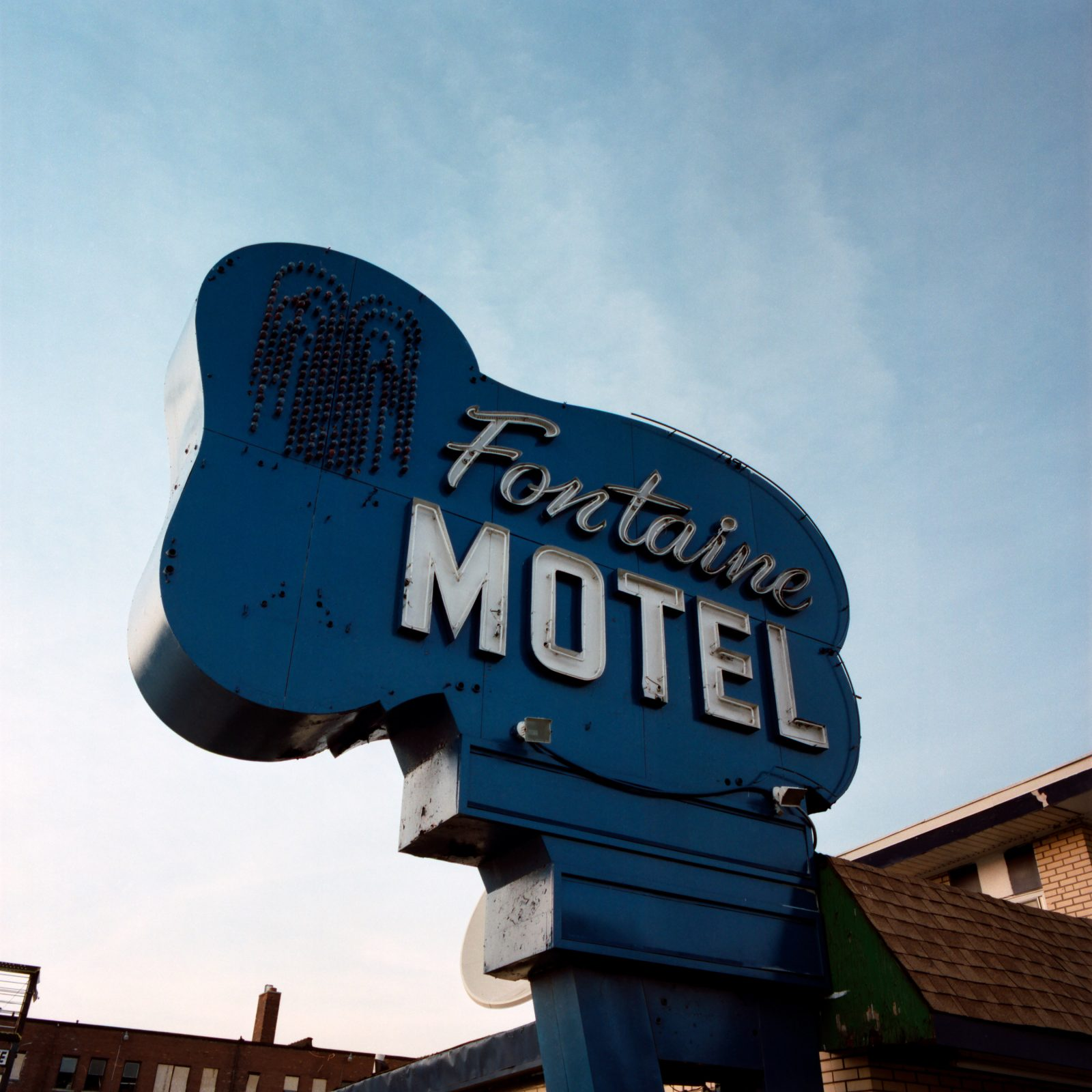 Fontaine Motel sign. Highland Park, Michigan.