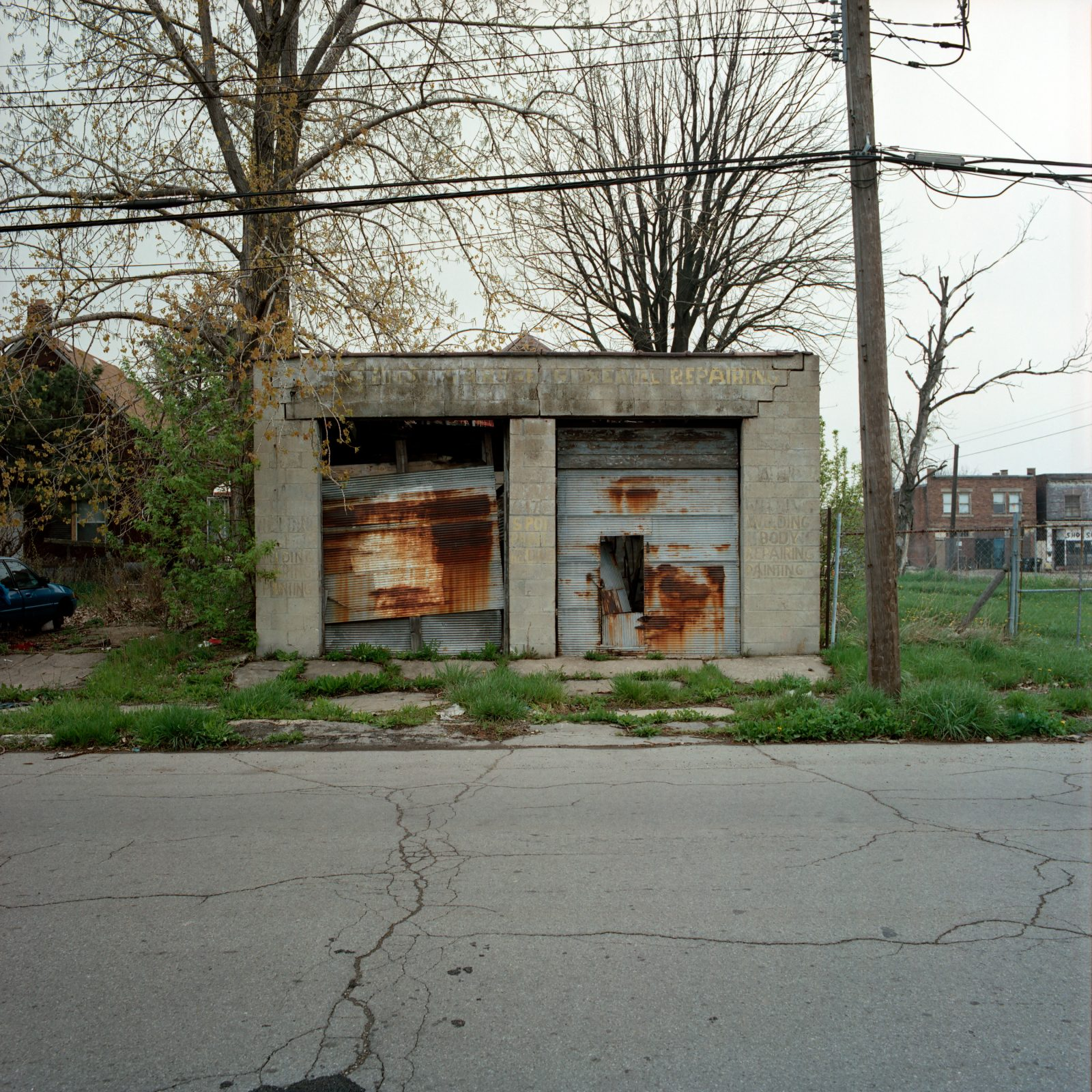 Garage. Detroit, Michigan.