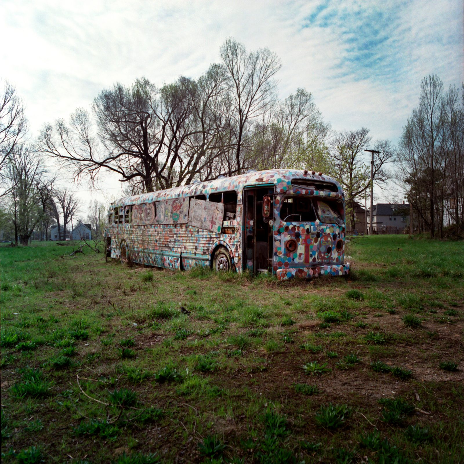 Tyree Guyton, Polka Dot bus. Detroit, Michigan.