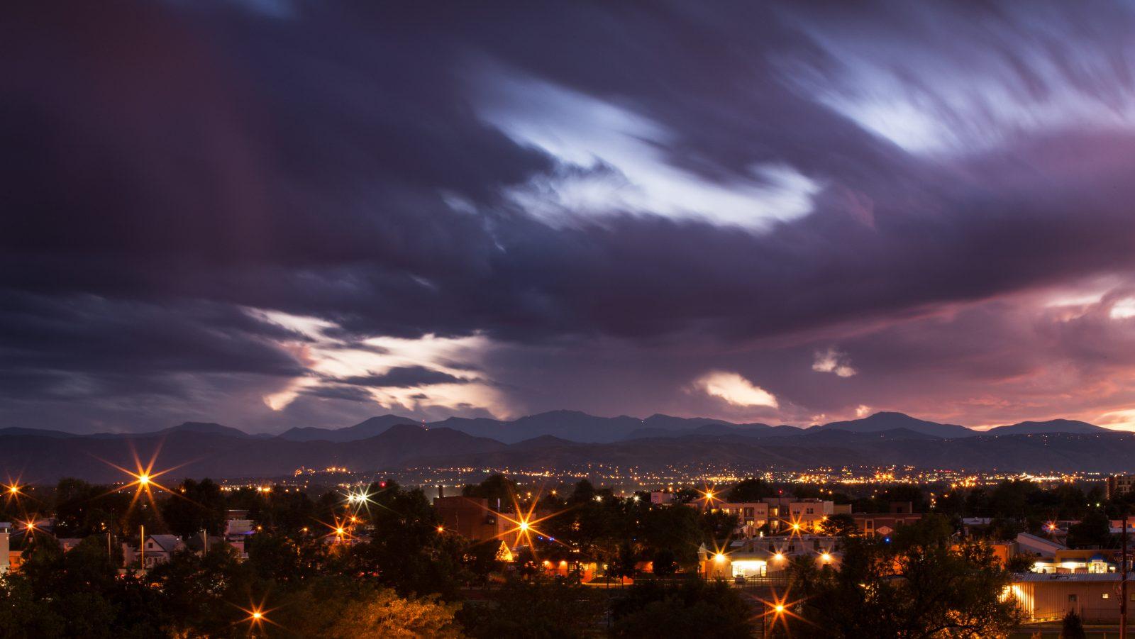 Mount Evans sunset - August 16, 2011