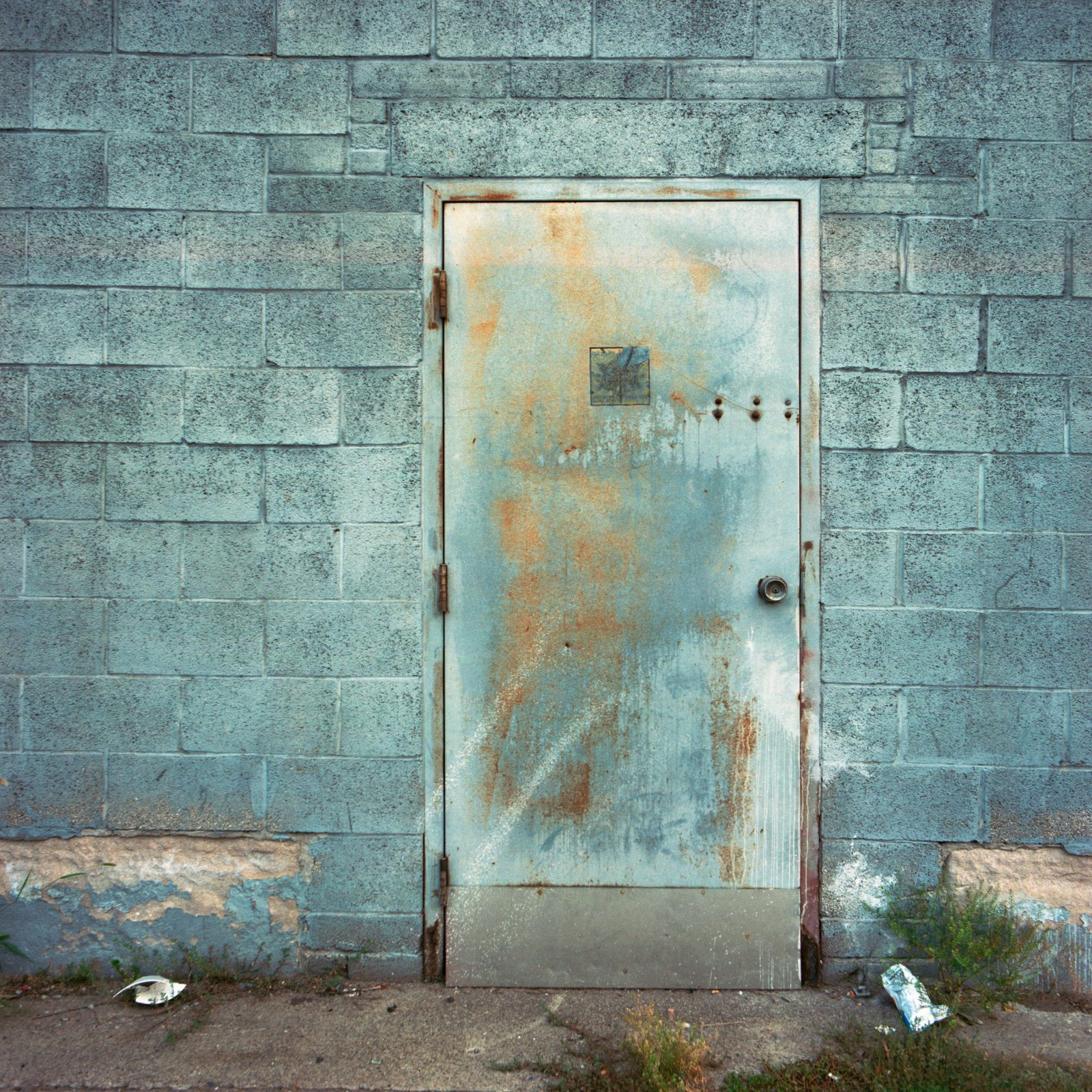 Blue door in Detroit