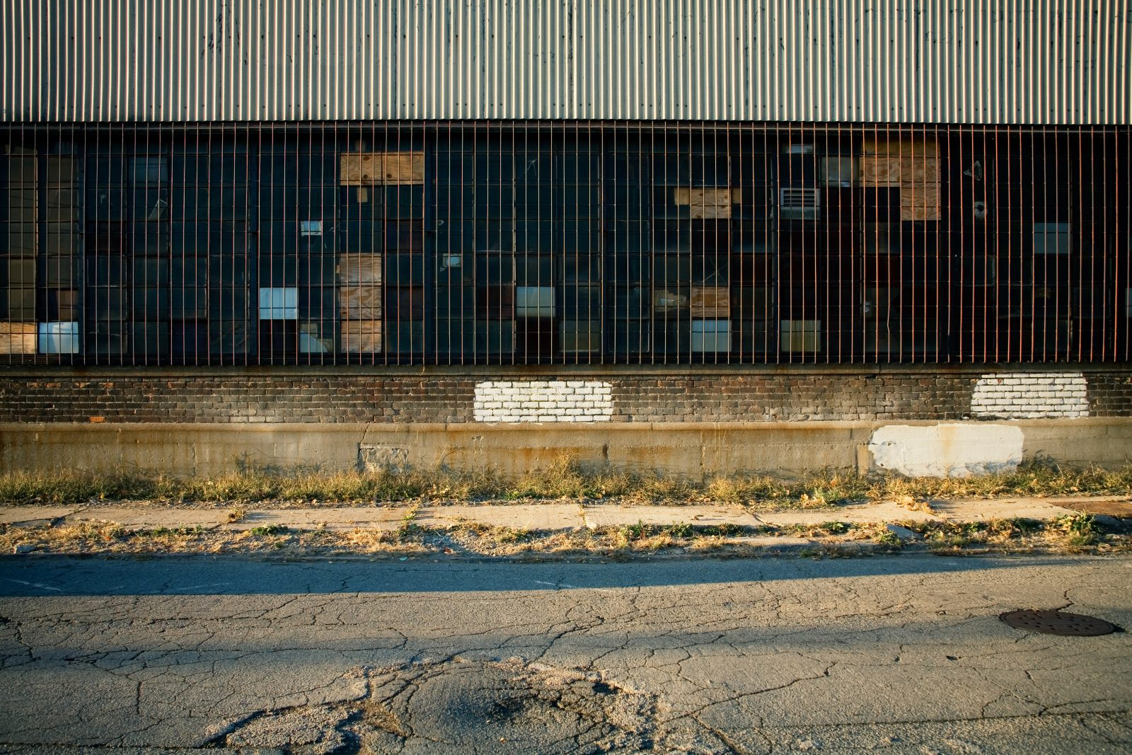 Factory windows in Detroit
