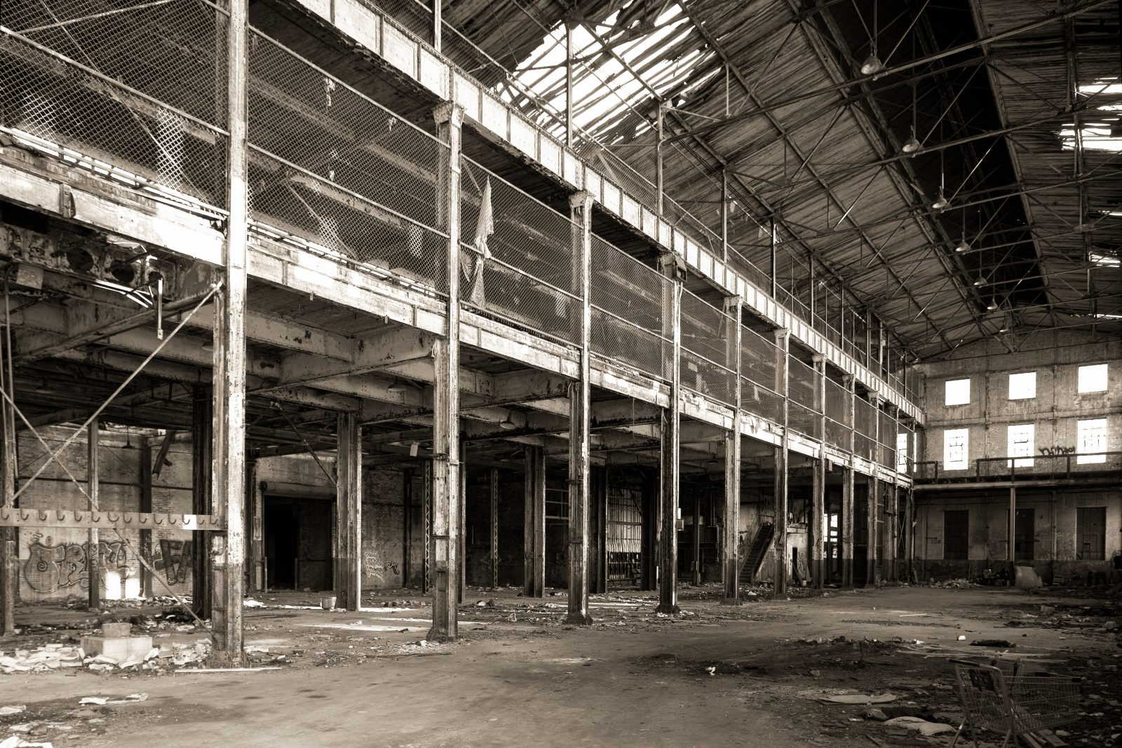 Globe shipping warehouse. Detroit, Michigan.