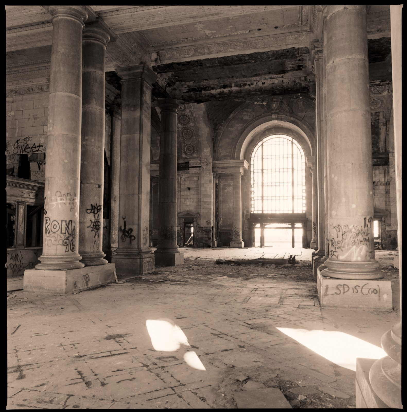 Michigan Central Station interior. Detroit, Michigan.
