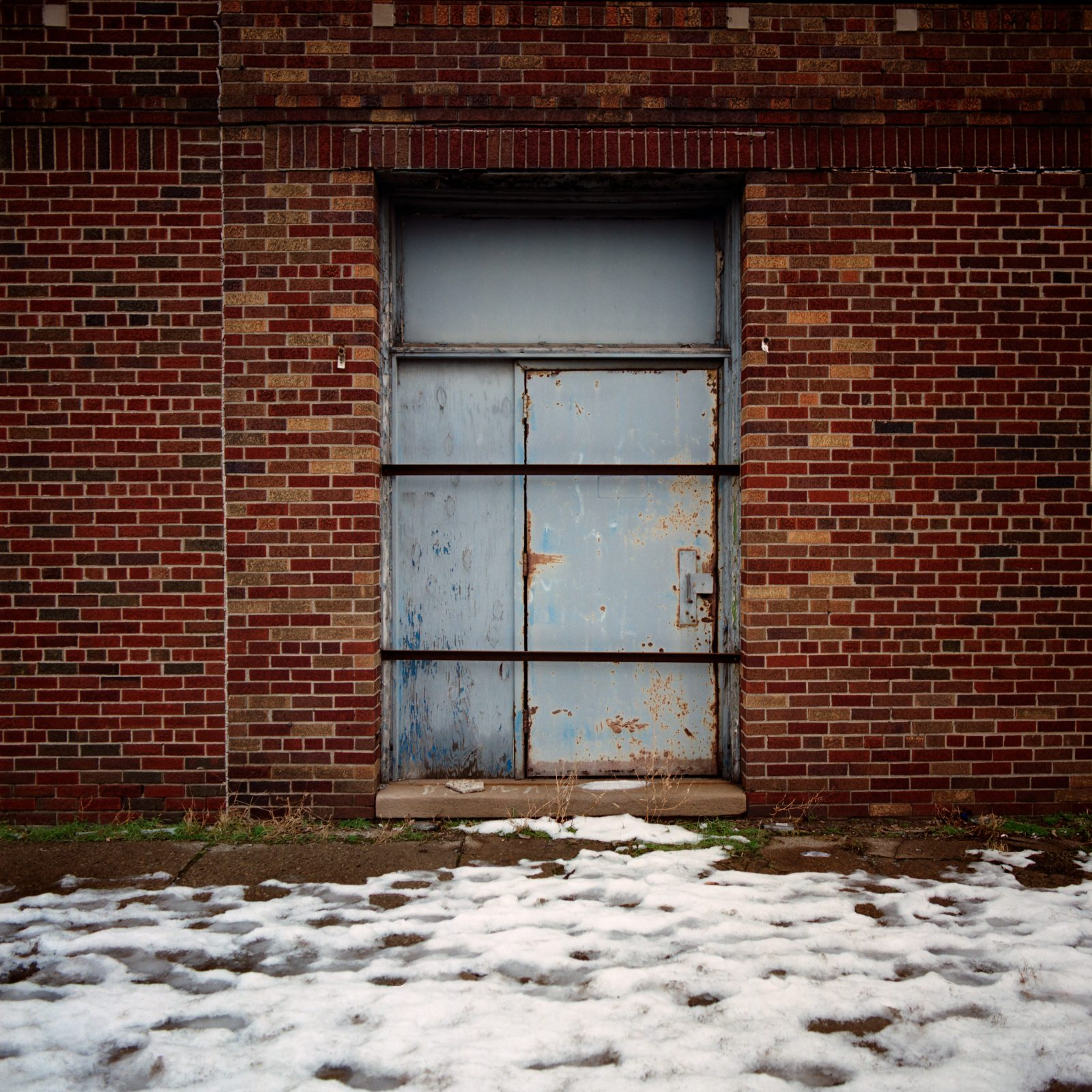 Industrial Door. Detroit, Michigan.