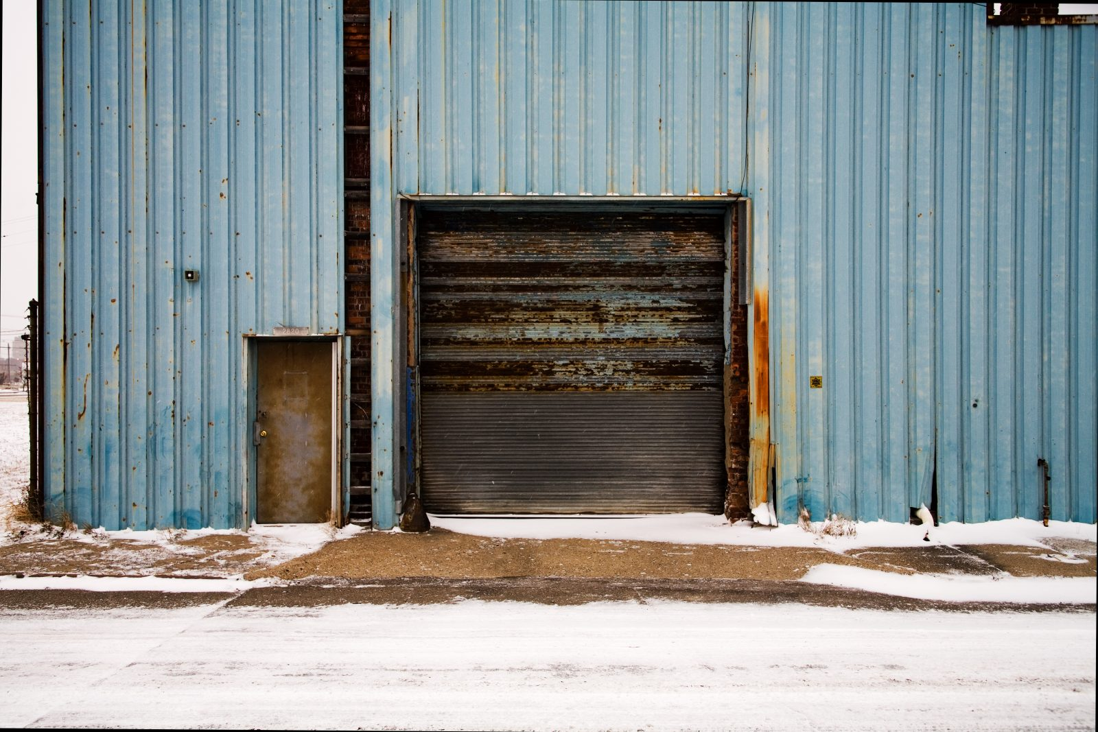 Warehouse door. Detroit.