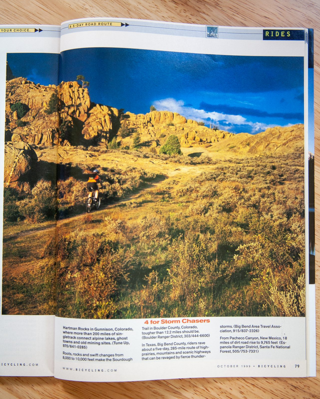 Hartmon's Rocks in Bicycling Magazine