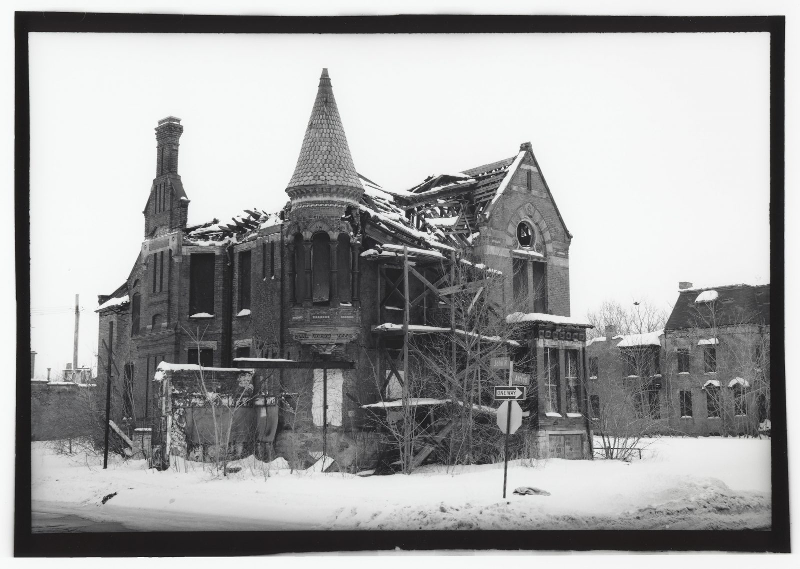 Ransom Gillis House in Brush Park. Detroit, Michigan.
