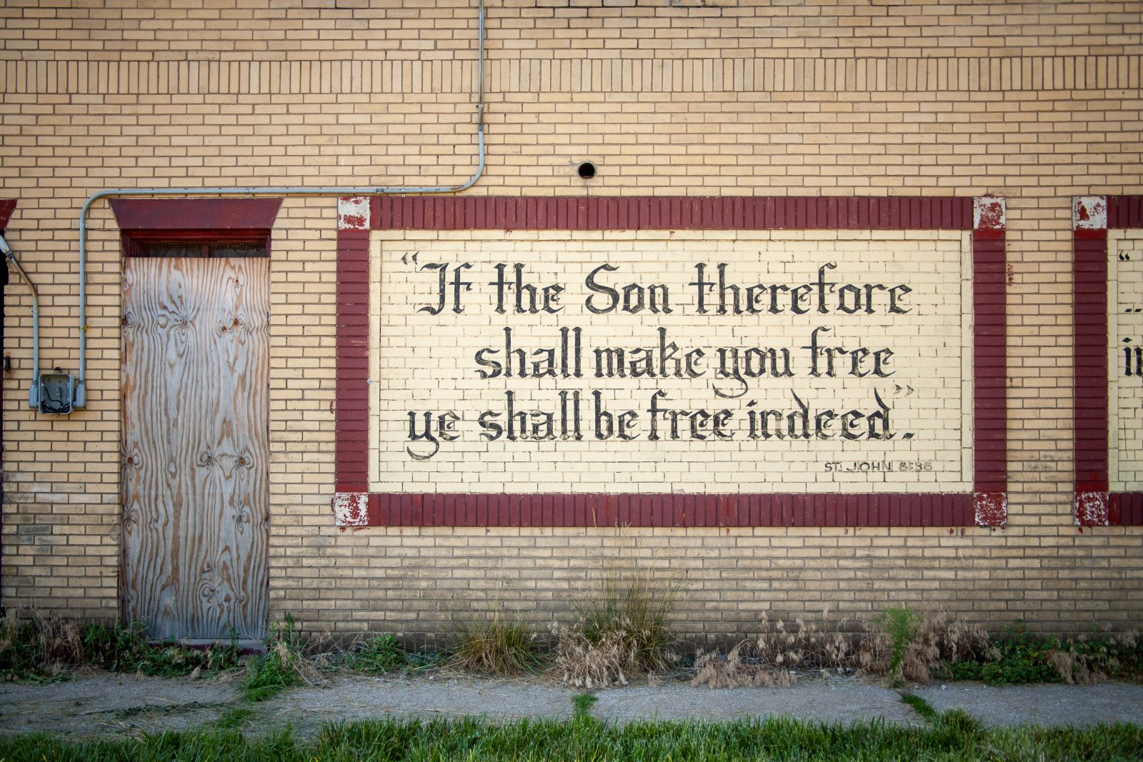 Bible verses on walls. Detroit, Michigan.