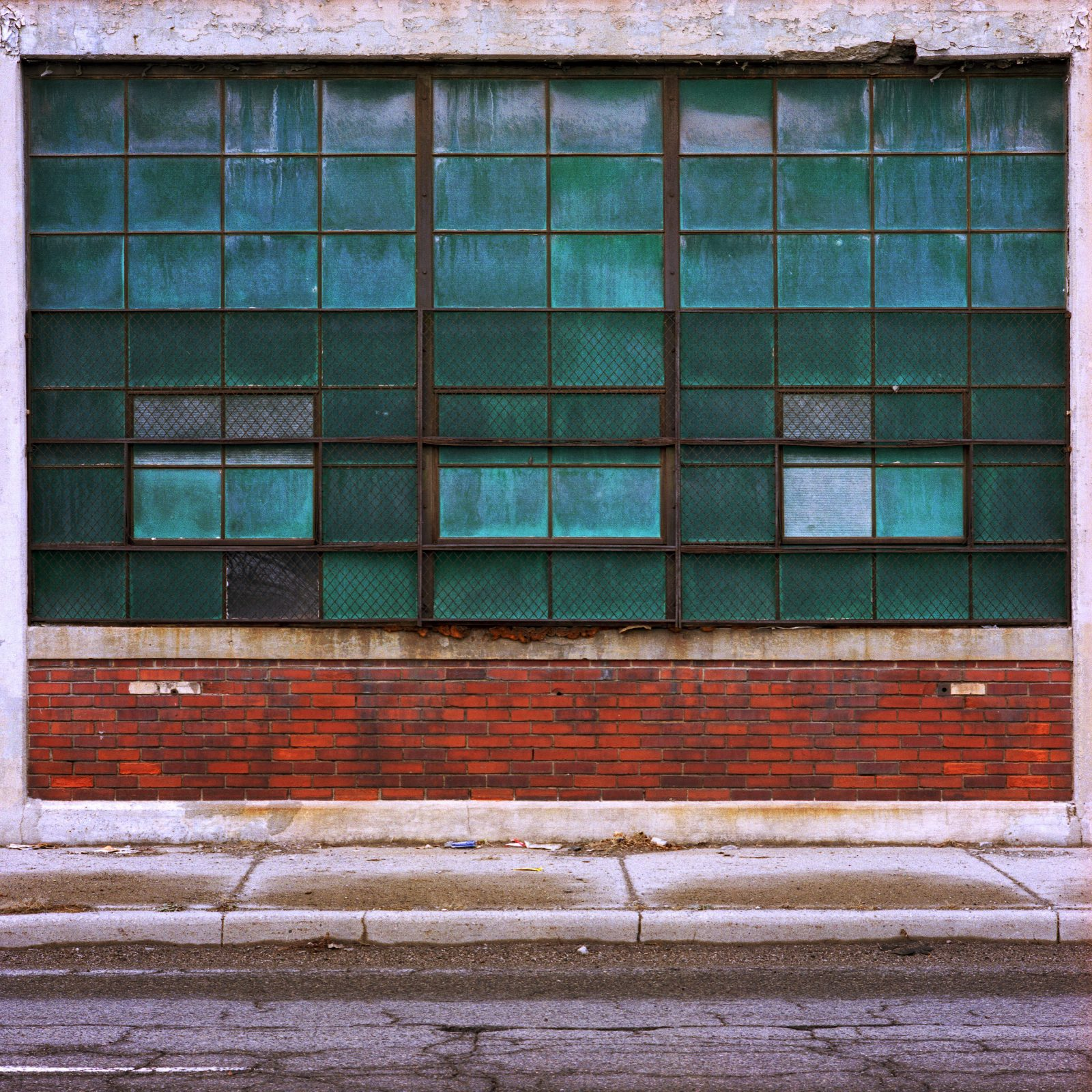 Green windows. Model T Plant. Detroit, Michigan.