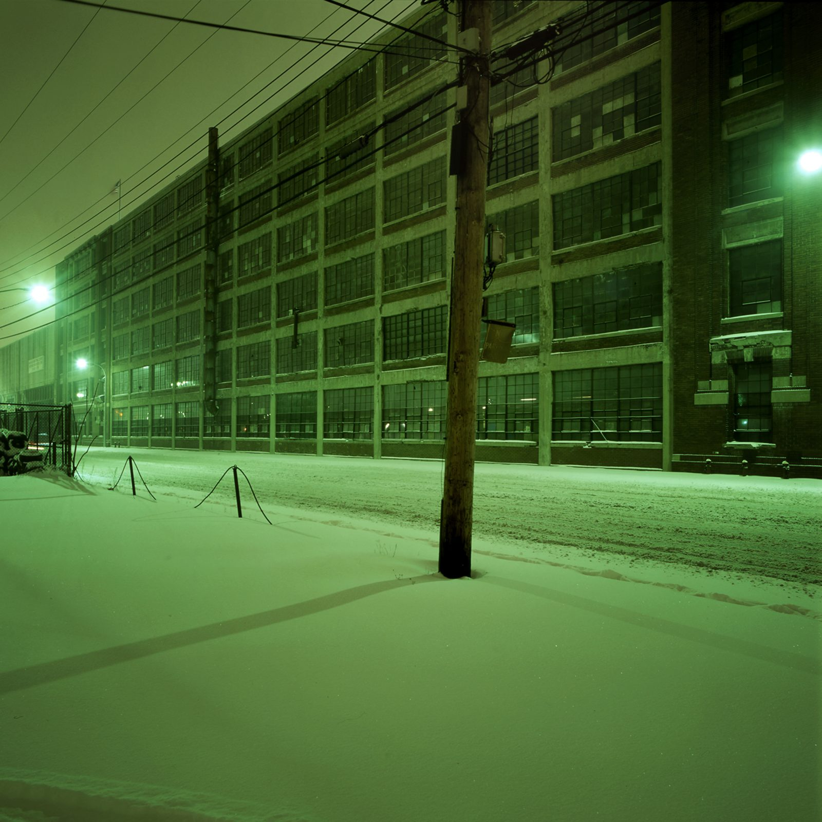 Model T plant at night. Detroit, Michigan.