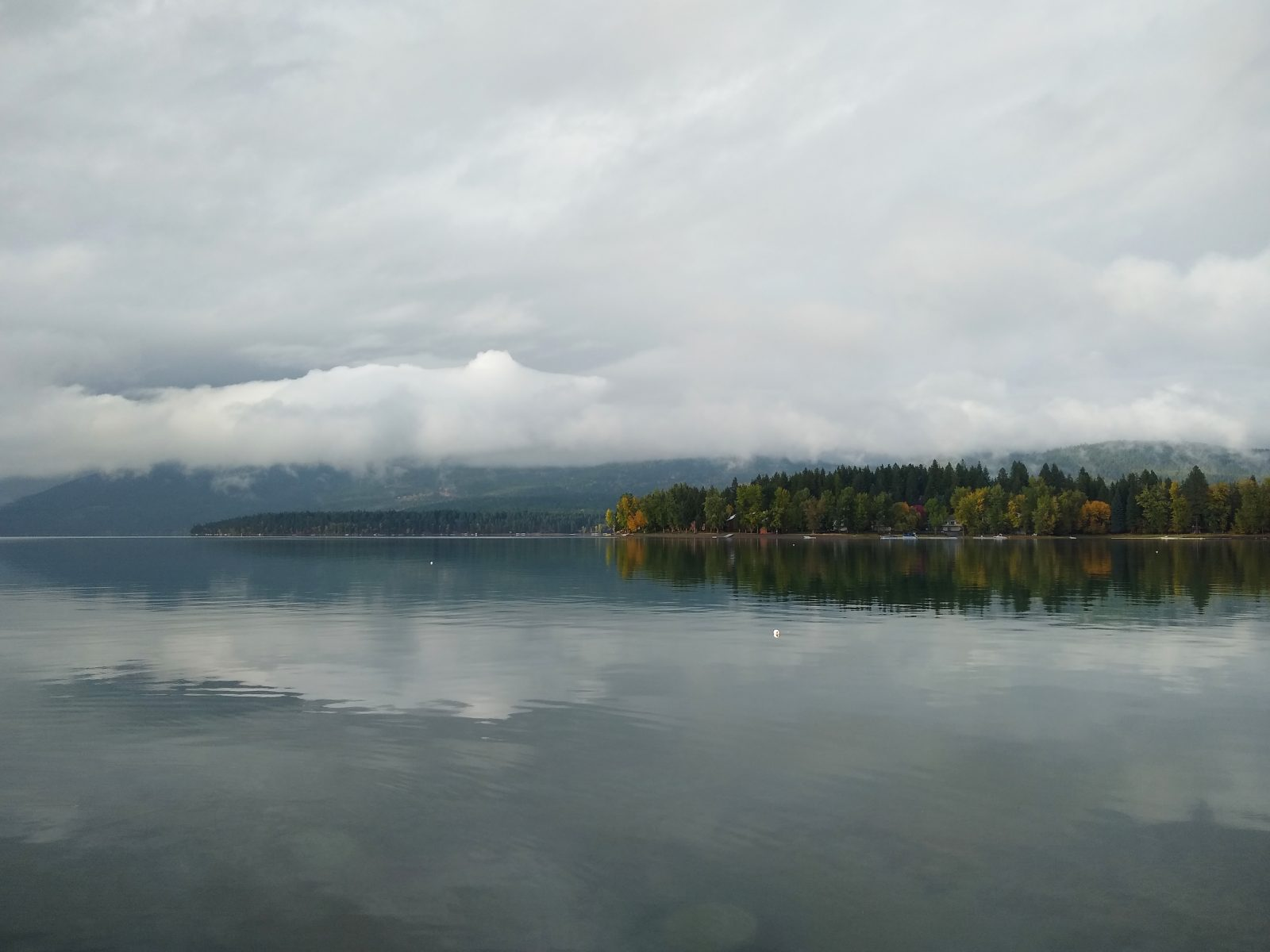 Whitefish Lake and clouds
