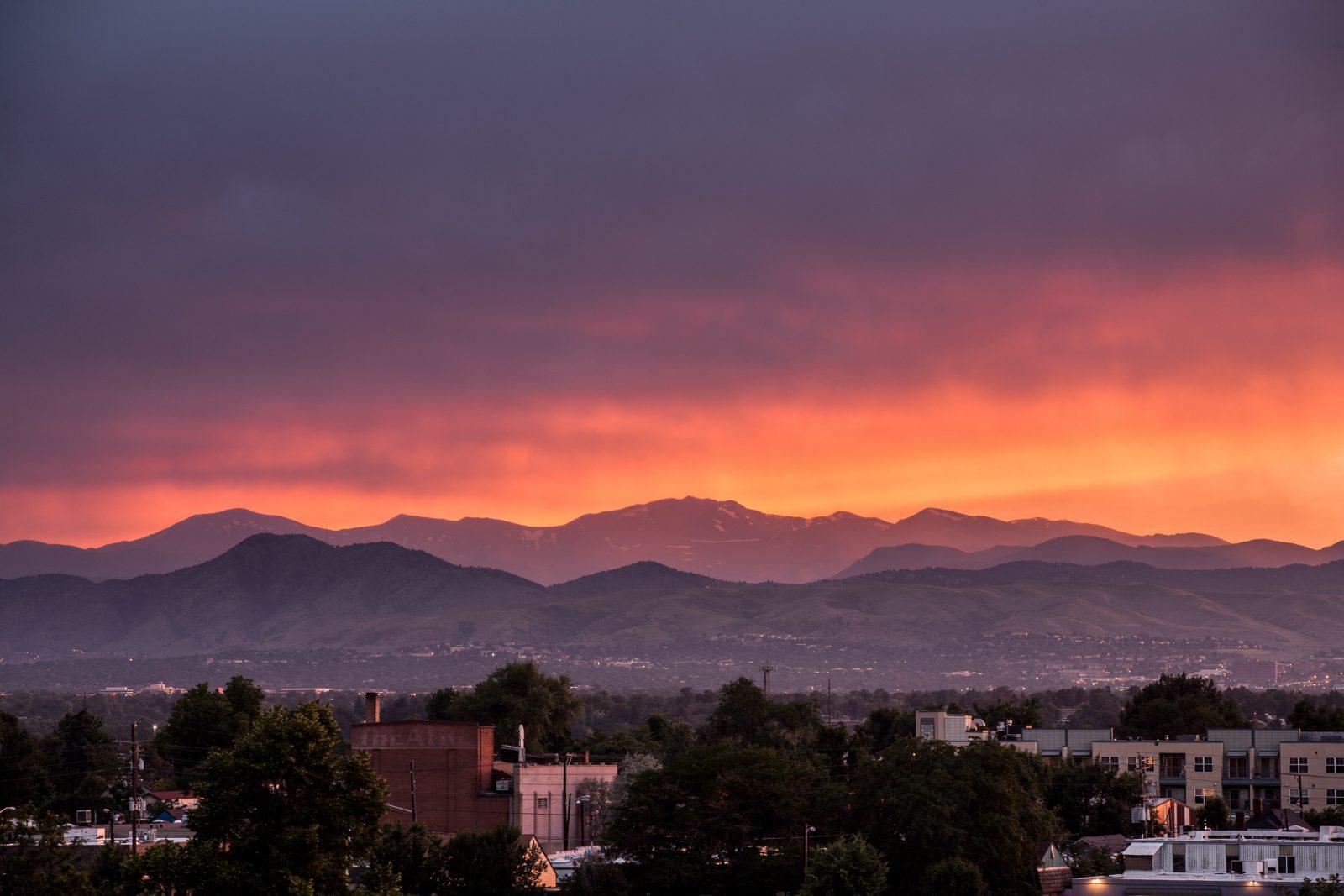 Mount Evans sunset - July 14, 2011